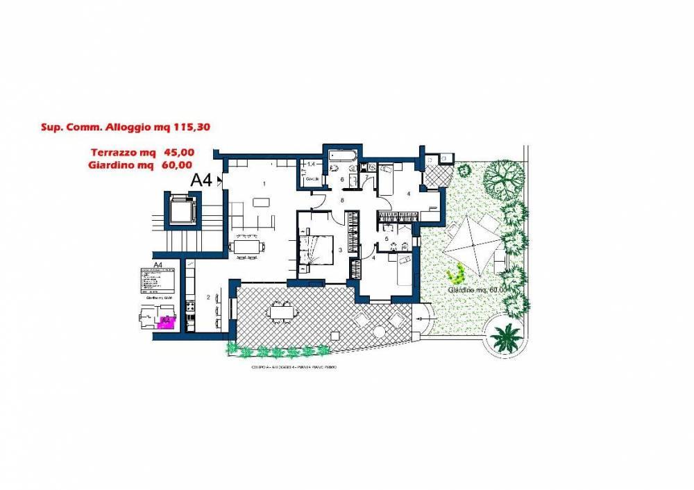 Appartamenti complesso residenziale localita moderata durant for Software di piano terra residenziale